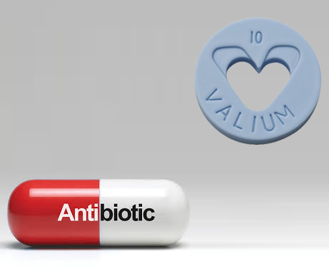 antibiotic and valium