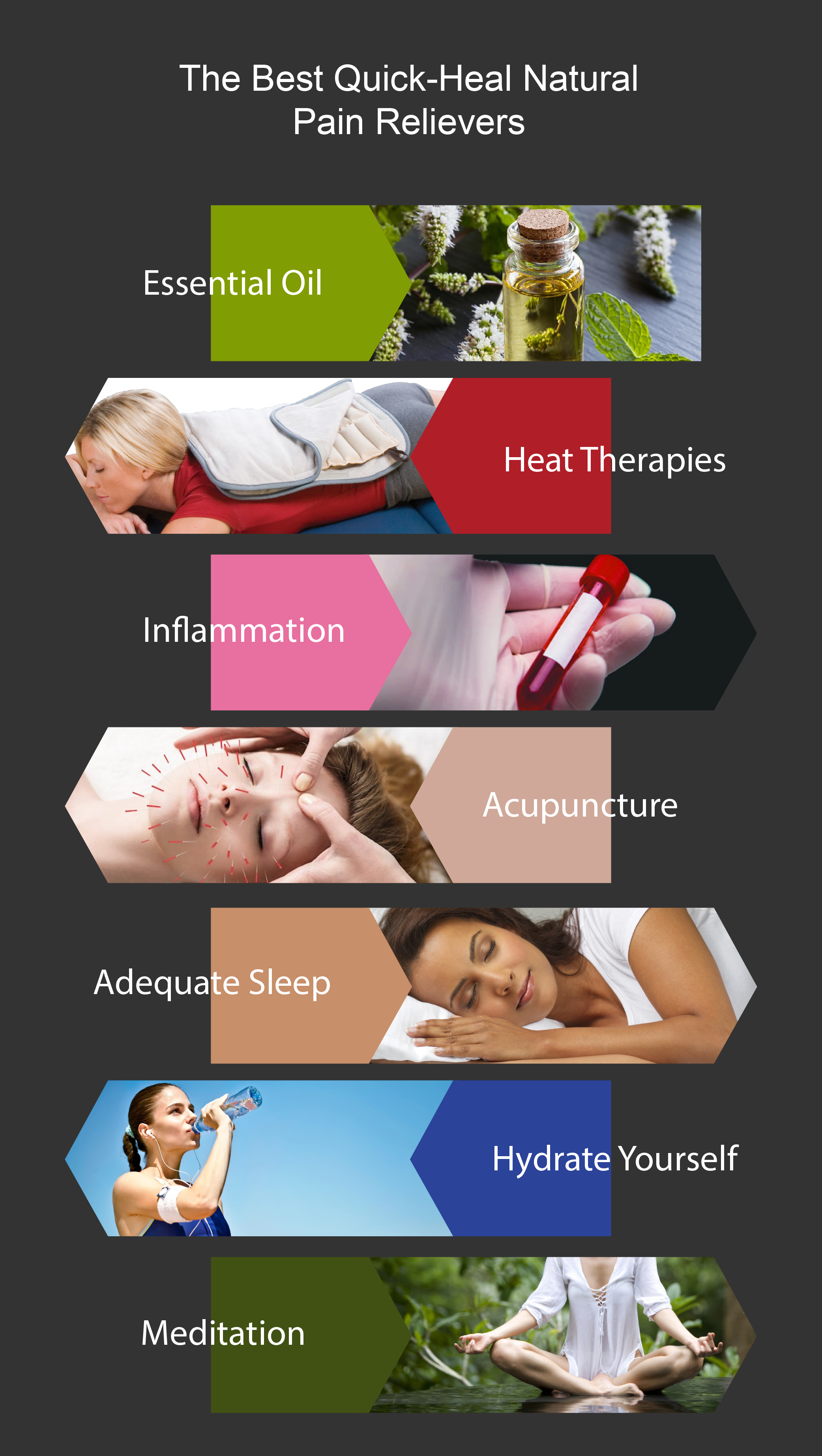 Best Natural Pain relievers infographics